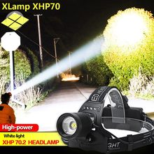 Powerful Xhp70 Hunting Led Flashlight Ipx-6 Waterproof Headlamp Headlight 18650 Battery Usb Rechargeable Portable Flashlight#LR2(China)