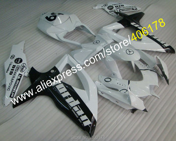 For Fairing GSXR 600 750 2008 2009 2010 K8 GSXR600 GSXR750 08 09 10 Black White Fairing kit (Injection molding)