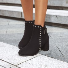 women ankle boots round toe high heels pumps autumn warm shoes woman chaussure zapatos mujer WXZ190 стоимость