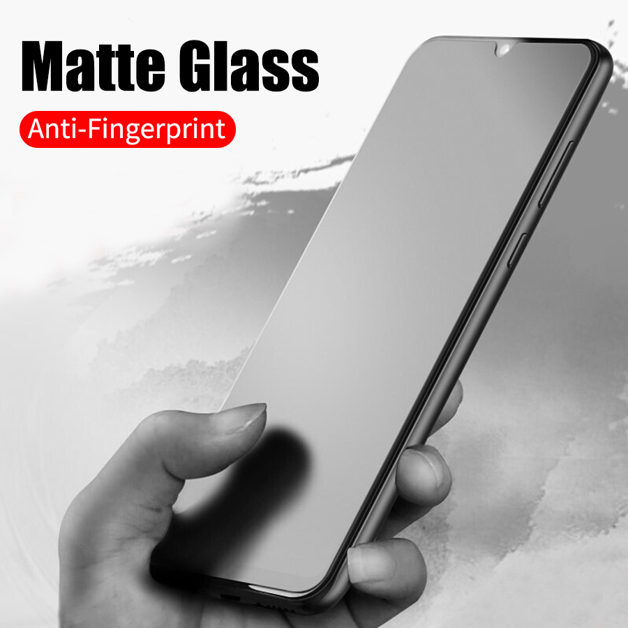 Matte Frosted Tempered Glass For Xiaomi Pocophone F1 CC9 Mi Redmi K20 Pro A3 A2 Lite Plus Note 7 9 SE Max 3 Screen Protector