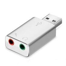 Audio Portabe USB Stereo Aluminium Alloy Converter External