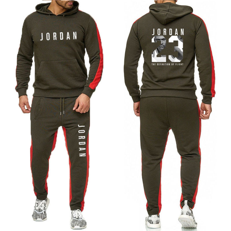 Pullover Suit Men's Sportswear Casual Hooded Pants Men's Sportswear + Hooded Sweatshirt Men's Suit Jogging Track Pants