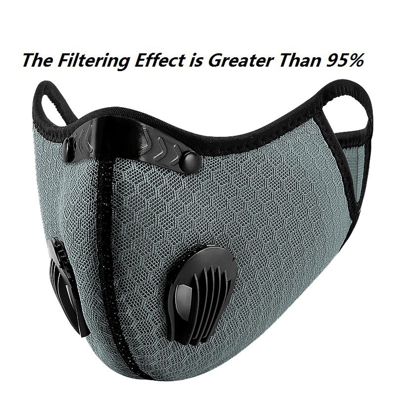 H342bd65d190341bd8cfa443fdba6c84dp Bike Face Mask, With Filter Activated Carbon Mesh Cycling Half Facemask for Outdoor Sports,Unisex Dust Reusable