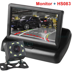 """Image 2 - ZIQIAO 4.3"""" TFT LCD Car Foldable Monitor Dynamic Camera Reverse Paking Camera For Parking Reverse Monitor System"""