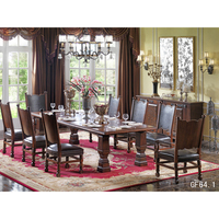 Wooden long dining table chair of luxury dining room set for 8 seater dining table 8 Sitzer Esstisch Table à dîner 8 places GF64