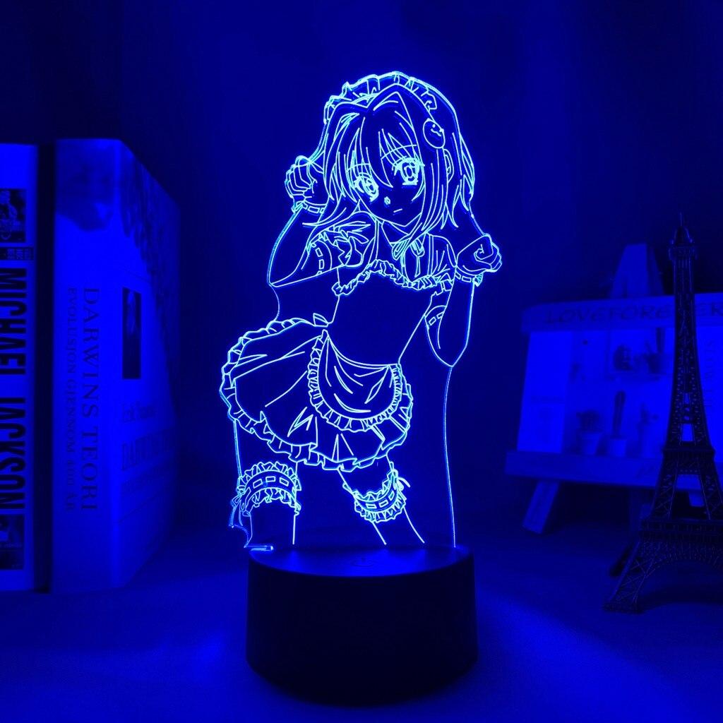 H342c187f068349a58fb7399a0eb2660aS Luminária Dxd koneko toujou led night light para decoração do quarto nightlight presente de aniversário anime 3d lâmpada koneko toujou high school dxd