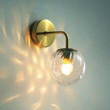 Креативные стеклянные настенная лампа Ванная комната декор настенные
