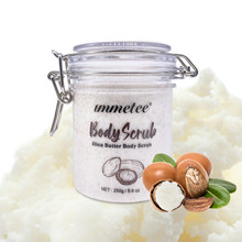 IMMETEE Shea Butter Body Scrub Removes Dead Skin Nourishing & Moisturizing with Vitamins and Minerals 250g