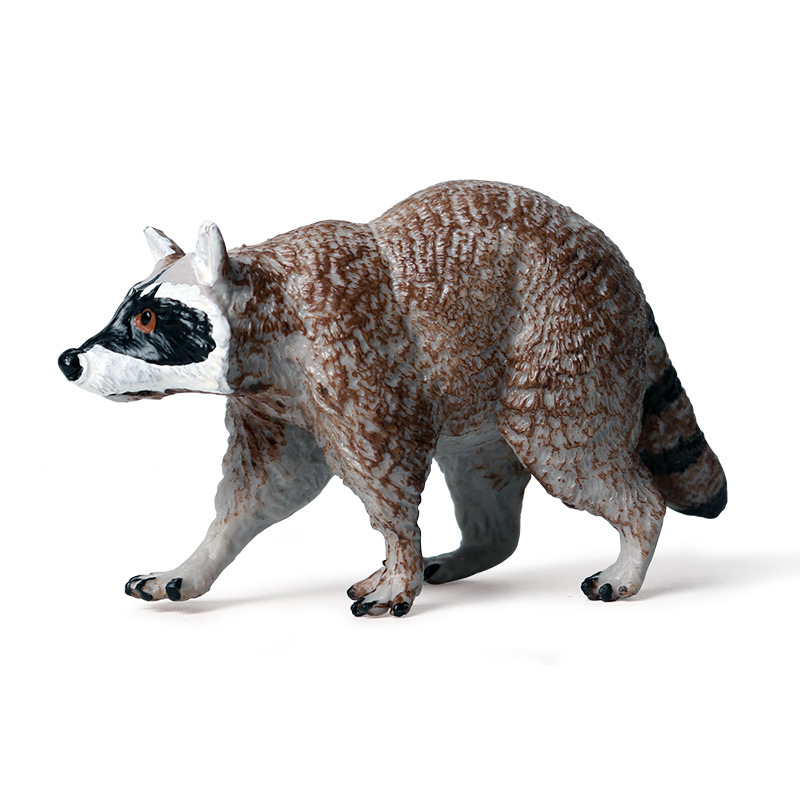 Simulation Raccoon Animals Figure Collectible Toys Wild Animal Action Figures Kids Plastic Toys