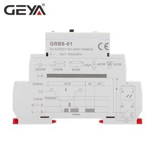 Image 4 - Darmowa wysyłka GEYA GRB8 01 szyna Din przełącznik zmierzchowy fotoelektryczny zegar czujnik światła przekaźnik AC110V 240V Auto ON OFF