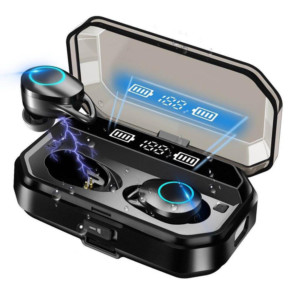 Bluetooth-стереонаушники G02, TWS, IPX7, 3300 мА ч, светодиодный светодиодным дисплеем