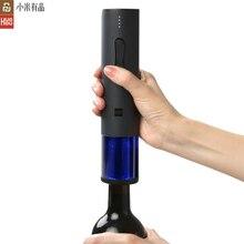 Oryginalny xiaomi Mijia Huohou automatyczny otwieracz do butelek wina zestaw korkociąg elektryczny z aluminiowym nożem do xiaomi inteligentne zestawy do domu