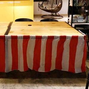 Pvc paski elastyczna zastawa stołowa świąteczny obrus motyw cyrkowy na urodziny ślub świąteczne dekoracje na domowe przyjęcie obrus