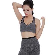Fitness Women Sport Yoga Running Bra Absorb Sweat Top Athletic Breathable Bra Gym Seamless Wire Free Padded Vest Tank tops цены онлайн