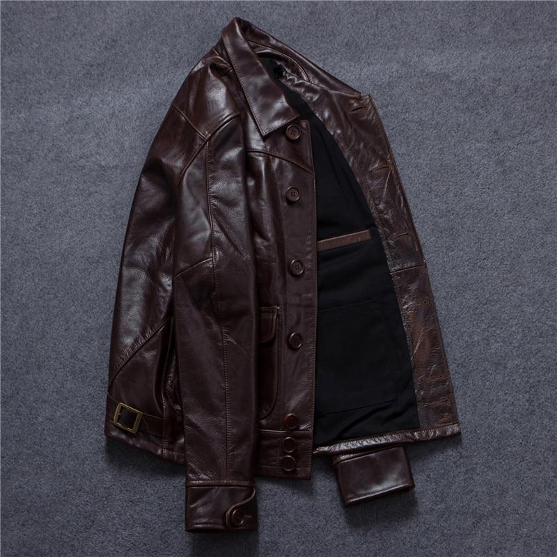 New Mens Genuine Lambskin Leather Slim Fit Biker Motorcycle Jacket for Men P018
