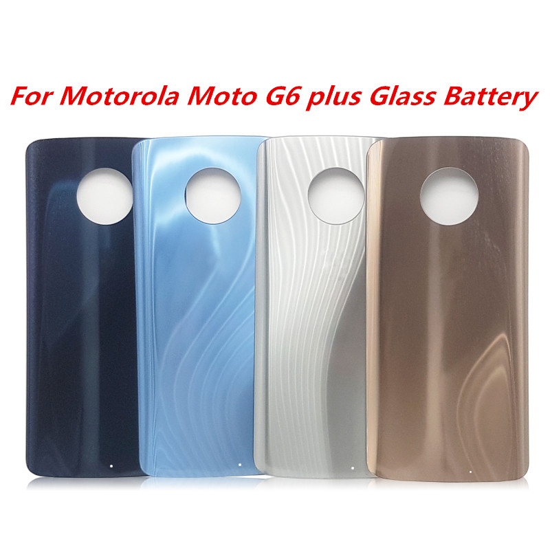 For Motorola Moto G6  Glass Battery Door Case Back Cover Replacement Parts For Motorola Moto G6 Plus XT1926-7 XT1926-6