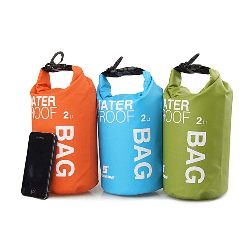 2L PVC Swimming Diving Sufing Waterproof Dry Bag Ultralight Handbag Phone Storage Bag Camping Waterbag Boating Drifting Bags