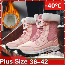 KAMUCC New Women Boots Womens Winter Shoes Woman Snow for Ankle