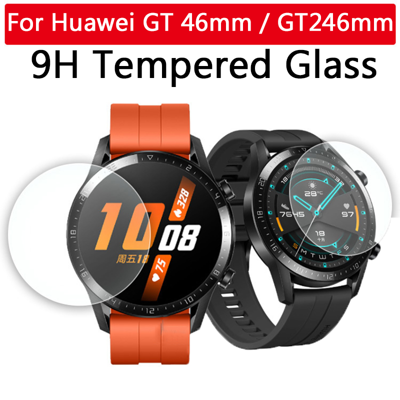 9H Tempered Glass On For Huawei Watch GT 2 46 Mm GT2 46mm Screen Protector Ultra-thin HD Protective Film Smartwatch Replacement