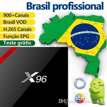 1 year Brazil Subscription ,X96W(1G+8G) andriod media player for Brazil