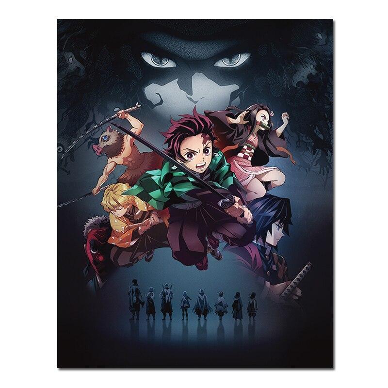 Постер из аниме «рассекающий демонов», плакат из комиксов «no Yaiba», настенная живопись на ткани для гостиной, декоративная ткань, водонепрони...
