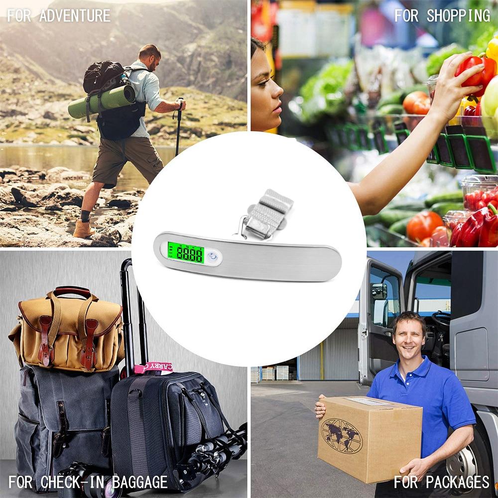 40kg Portable Numérique Pesage Suspension Voyage Balance Pêche Bagage Valise