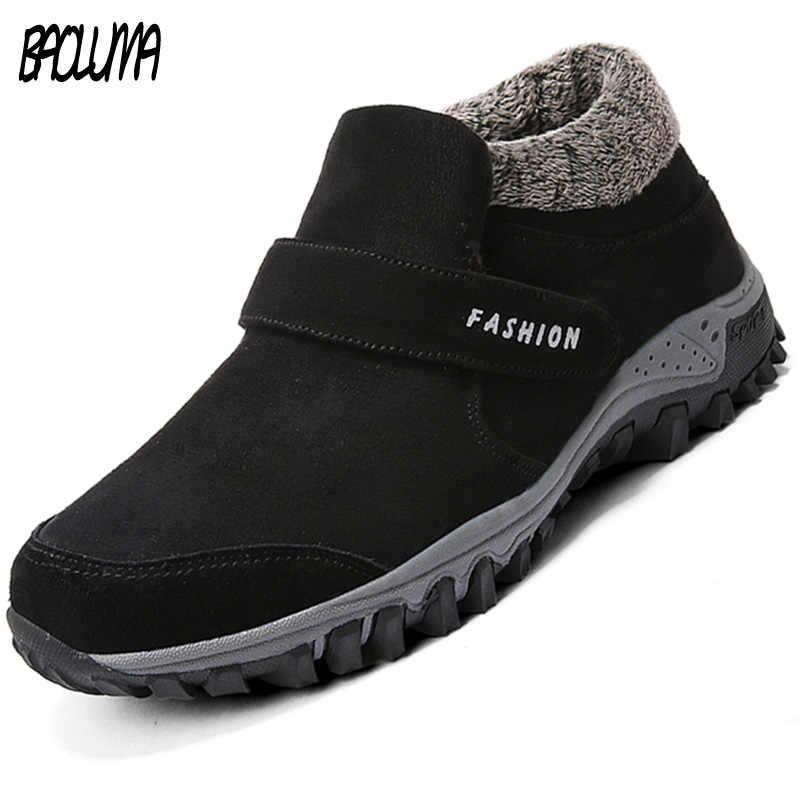 Зимние ботильоны; Мужская замшевая зимняя обувь; мужские теннисные кроссовки; Зимние ботильоны; Мужские Теплые повседневные рабочие ботинки; Botas Hombre
