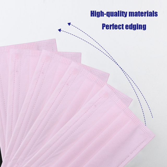 10/50/100Pcs Nonwoven mask Mouth Face Mask Disposable Black Masks White Earloops Masks New 5