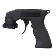 Poignée de pistolet aérosol avec bouton de déclenchement