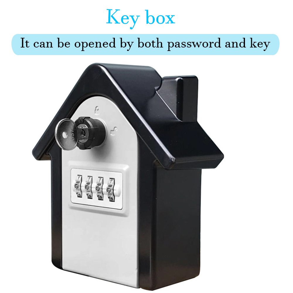 Key Safe Box Wall Mount Lock Box Weatherproof Combination Password Lock Hidden Keys Box Security Safes For Home Office