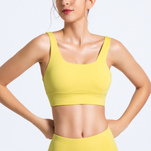 Yoga Bra Women Sports U neck Seamless Gathering Push Up Fitness Underwear Training Running Athletic Energy Brassiere