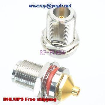 "DHL/EMS 200pcs Connector N female jack bulkhead solder for semi-rigid RG402 0.141"" cable -A3"