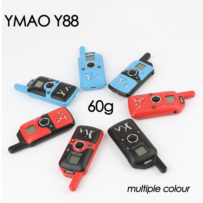 YMAO Y88 MINI Walkie Talkie Portable UHF Handheld Ham 99CH Ultra-small Radio Communicator HF Transceiver With Earpiece