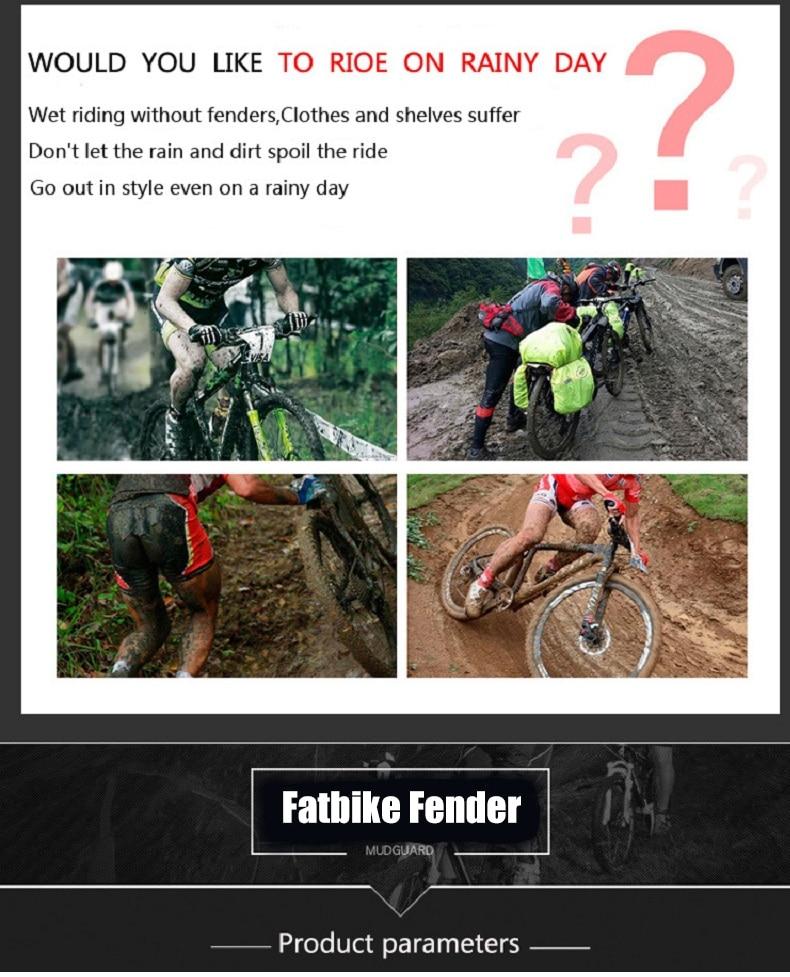 fatbike frente traseira lama guarda 26-29 polegada