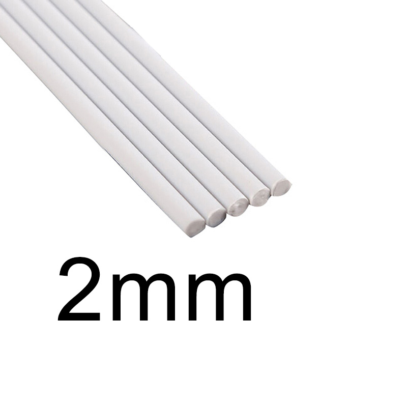White Solid ABS Rod Tube Plastic Assorted Cylinder Pole DIY Table Model Part New