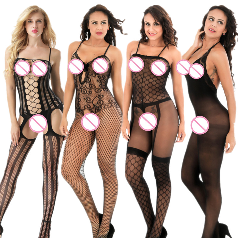 <font><b>Sexy</b></font> fishnet <font><b>lingerie</b></font> Open Crotch <font><b>Bodystocking</b></font> <font><b>Sexy</b></font> bodysuit Erotic <font><b>Lingerie</b></font> Teddies Crotchless body suits sleepwear <font><b>Tights</b></font> image