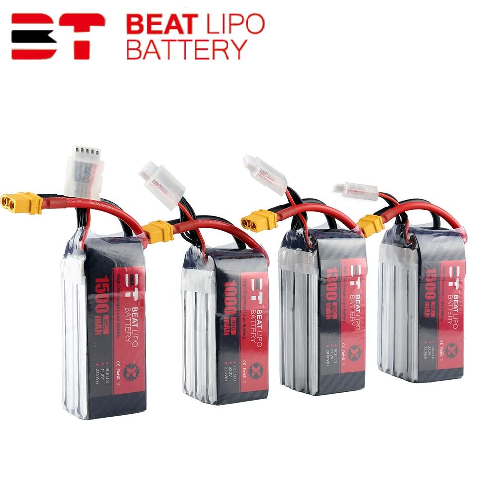 Beat LIPO Battery 4S 6S 450/550/850/1000/1300/1500/mAh 75C/95C 14.8V 22.2V Lipo Battery  For FPV Racing Drone Quadcopter