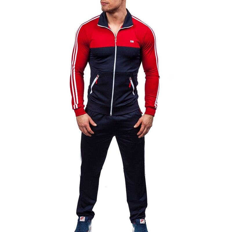 Zogaa 2019 New Brand Men's Suit Spring Summer Jogger Sets  Jackets + Pants Men Track Suit Sweatsuit Men Hot Sale