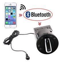 Bluetooth auto farol interruptor de luz versão com linha para vw golf mk4 jetta 4 passat b5 polo bettle