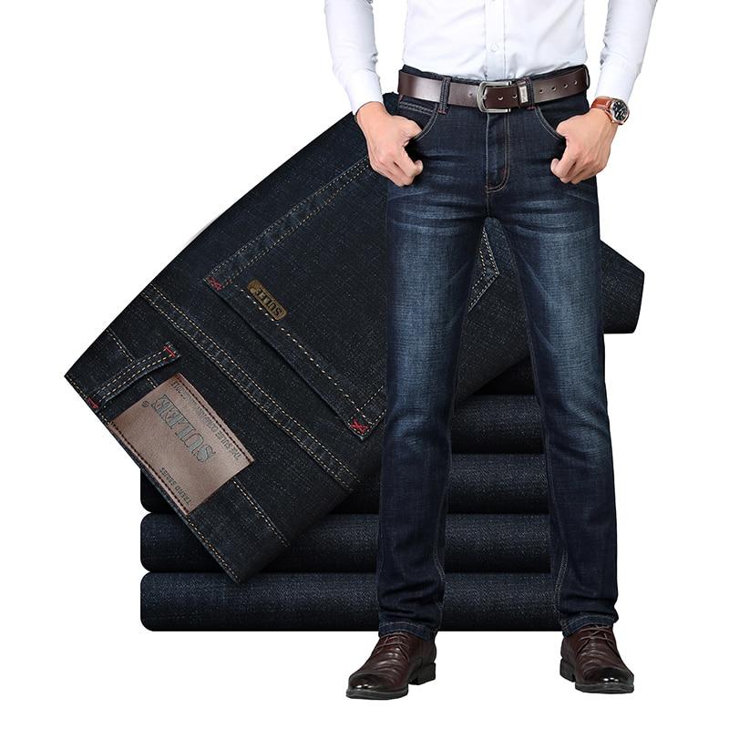 Мужские джинсы SULEE, повседневные облегающие джинсы стрейч, деловые, прочные, на весну и осень 2019|calca printer|   | АлиЭкспресс