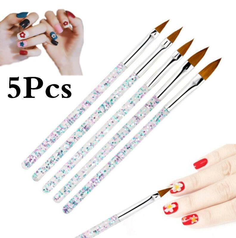 Arte do prego manicure lápis pincel conjunto manicure linha de flor grade design pintura strass picker pontilhar unhas arte & ferramentas