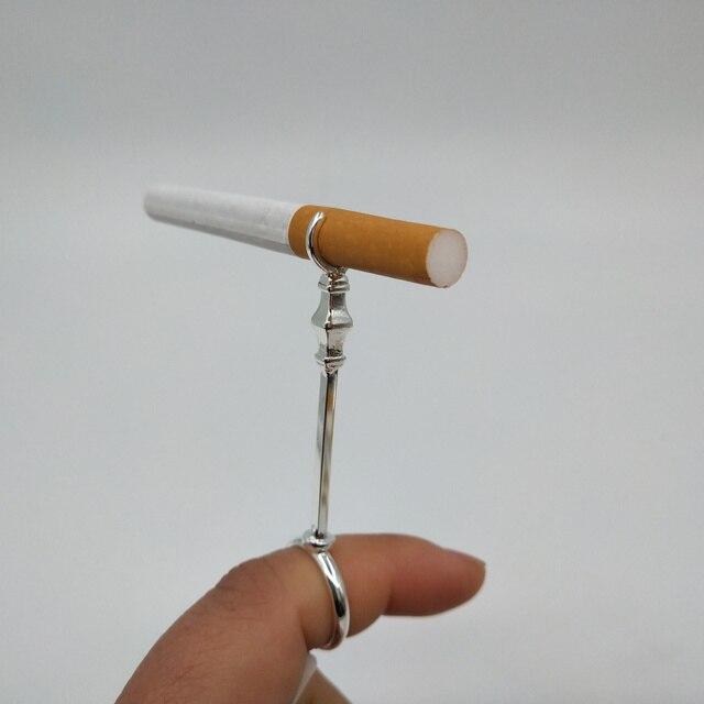Sceptre diseño elegante señora Smoker cigarrillo titular anillo titular Romo titular para dedo rejilla de cigarrillos con caja de regalo de madera c111