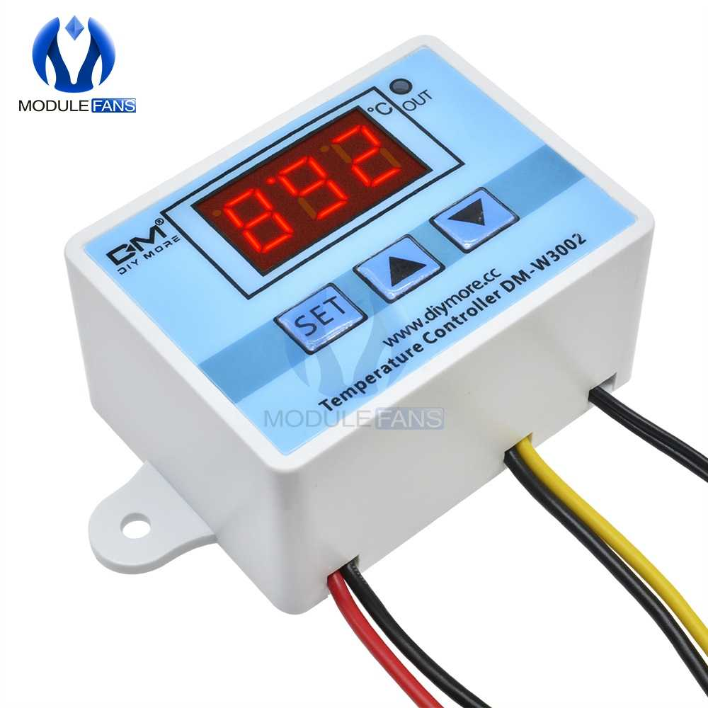 W3002 12 V/24 V/110 V 220V LEVOU Controlador de Temperatura Do Termostato Digital Sensor Medidor Termorregulador Frigorífico aquecimento de água De Refrigeração