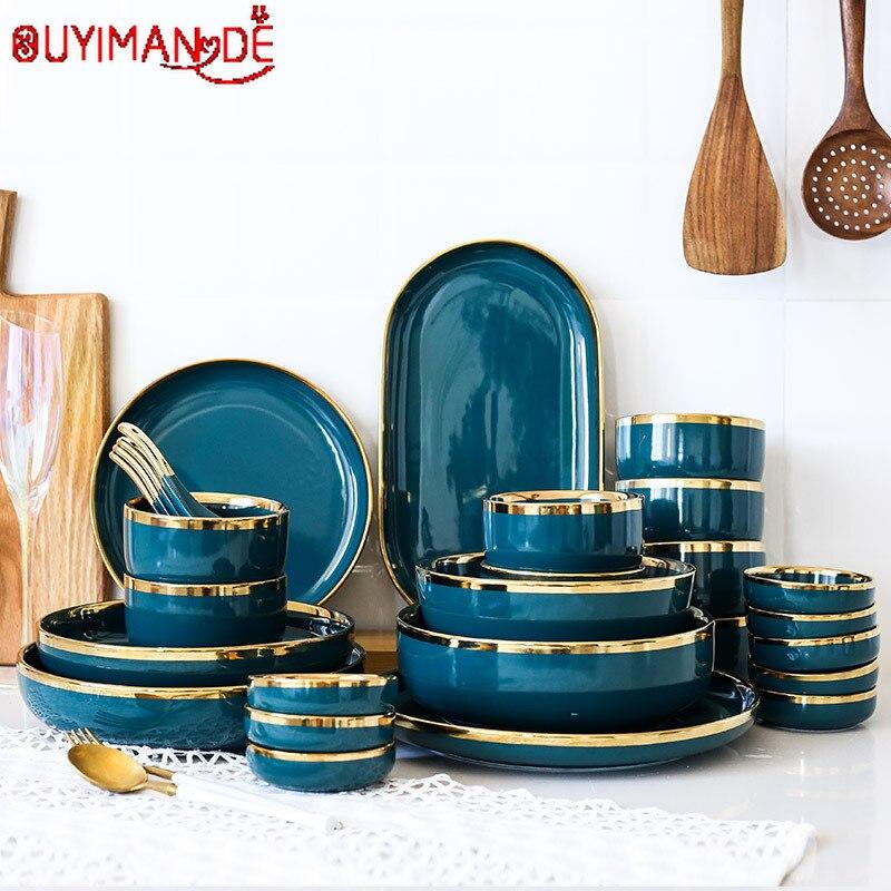 Светильник Роскошная бабушка Lu цвет Пномпеня Тарелка обеденная тарелка Бытовая Глубокая Тарелка обеденная тарелка керамическая посуда комбинация|Чаши|   | АлиЭкспресс