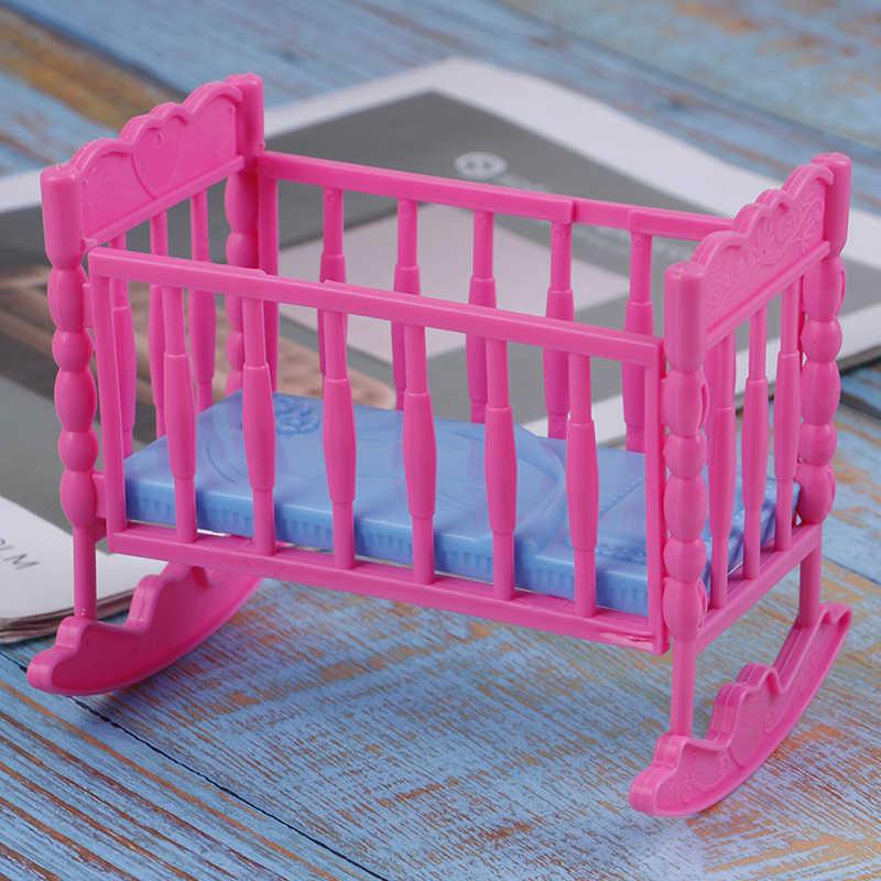 12,5*9*10,5 cm Mini casa de muñecas niños juguete muñeca Darling muebles para cuna de balancín cama para muñeca accesorios juguetes para niños