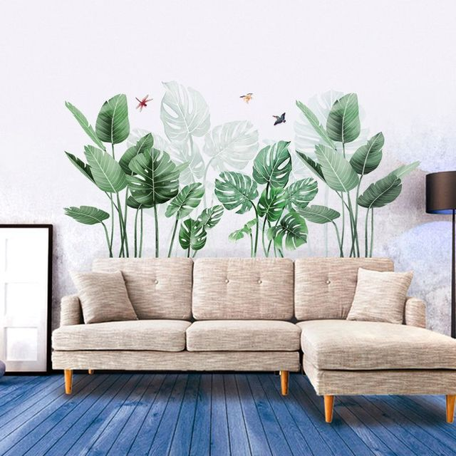 Green Plant Tropical Wall Stickers 4