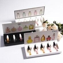 Marca original 1 conjunto de perfume para mulher atomizador água óleo essencial belo pacote feminino perfume flor frutas com caixa