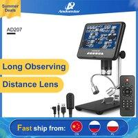 Andonstar AD207 3D 디지털 현미경 장거리 Len 납땜 도구 전자 전화/PCB/SMD 수리 이미지 회전 기능