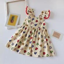 Летние платья для девочек Детские без рукавов с принтом в виде