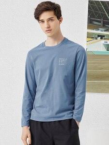 Image 3 - פיוניר 2020 אביב חולצה גברים ארוך שרוול מוצק 100% כותנה מכתב מודפס O צוואר אופנה סיבתי חולצות Mens ACT0102011